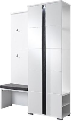 preisvergleich eu garderobe wei hochglanz. Black Bedroom Furniture Sets. Home Design Ideas