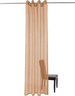 Vorhang Manresa, Ösenschal - 140 x 245 cm, Braun