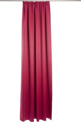 Vorhang Corona, mit Gleitern - 140 x 245 cm, Rot