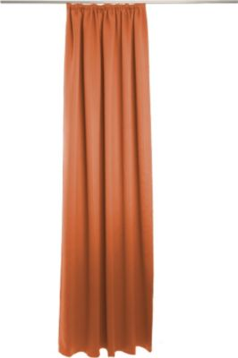Vorhang Corona, mit Gleitern - 140 x 245 cm, Terra