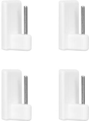 Klebehaken für Vitragestange 4 Stück - Weiß