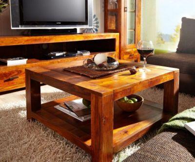 couchtisch guru 80x80 cm mit ablage akazie honig plus de. Black Bedroom Furniture Sets. Home Design Ideas