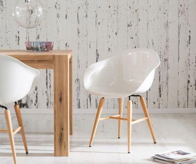Esszimmerstuhl Forum Wood White Weiss Buchenholz Hochglanz by Kare Design
