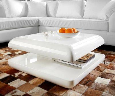 couchtisch avona 80x80 weiss hochglanz drehfunktion plus de. Black Bedroom Furniture Sets. Home Design Ideas
