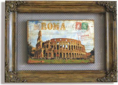 Wandbild Colosseum Braun 58x42 cm rustikale Optik Wanddekoration