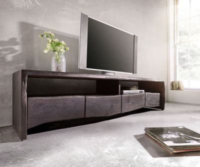 Fernsehtisch Live-Edge Akazie Tabak 190x45 cm 4...
