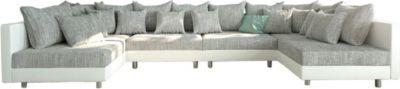 couch-clovis-xl-weiss-hellgrau-wohnlandschaft-modulsofa, 899.00 EUR @ plus-de