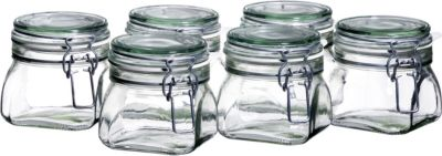 6er Set Einmachglas 50 cl. GOTHIKA