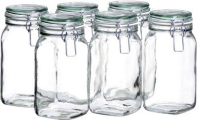 6er Set Einmachglas 1,45 l. GOTHIKA