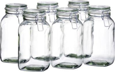 6er Set Einmachglas 2,5 l. GOTHIKA