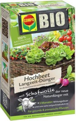 COMPO® BIO Hochbeet Langzeit-Dünger mit Schafwolle,750 g