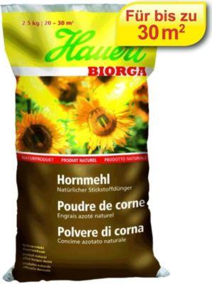 Hauert  Biorga Hornmehl, 2,5 kg Beutel Naturdünger organischer Dünger Gartendünger