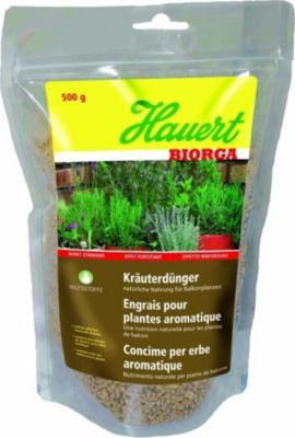 Hauert  Biorga Kräuterdünger, 0,5 kg Stehbeutel organischer Dünger Tomatendünger