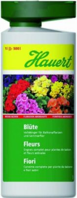 Hauert  ´Balkon & Geranien´, 1 l Flasche Balkopflanzendünger Geraniendünger Flüssigdünger