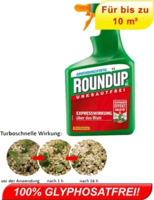 ROUNDUP® AC Turbo Unkrautfrei ohne Glyphosat Anwendungsfertig für 10 m²,1l Sprühflasche