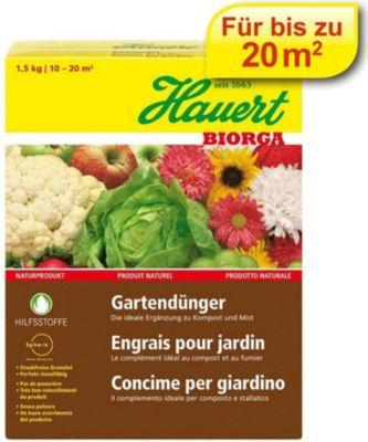 Hauert  Biorga Gartendünger,1,5 kg Karton