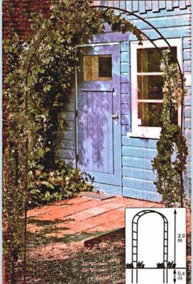 baldur garten rosenbogen flora aus metall 240x130x37 cm rankhilfe torbogen pergola spalier. Black Bedroom Furniture Sets. Home Design Ideas