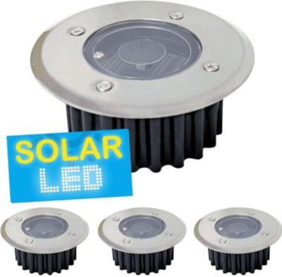 4er-Set LED Solar Bodenstrahler,4er-Set