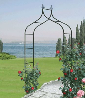 Baldur Garten Rosenbogen ´Cado´ aus Stahl schwarz lackiert BxHxT 140x255x38 cm