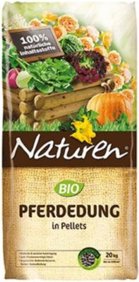 Naturen® BIO Pferdedung in Pellets, Naturdünger organischer Dünger Biodünger Gartendünger20 kg