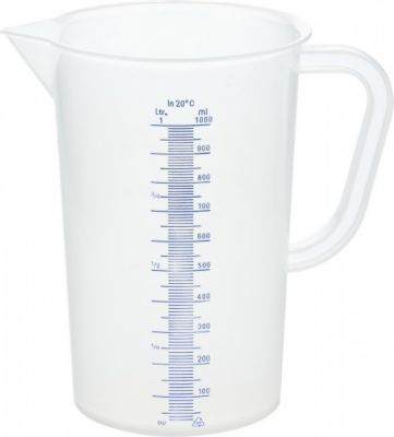 Messbecher 1 Liter aus Kunststoff mit Skala