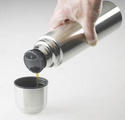 Isolierflasche 1 L , dichter Drehverschluss mit Ausgießfunktion