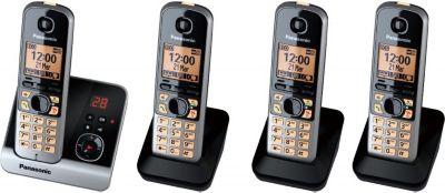 KX TG 6724 GB Schnurlostelefon mit Anrufbeantworter - 4 Mobilteile