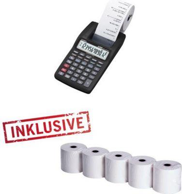 HR 8 TEC kleiner druckender Rechner + 5 Papierrollen