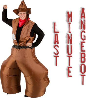GARDENho.me Aufblasbares Kostüm Cowboy Fuzzi Wi...