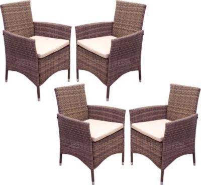 polyrattan sessel 4tlg set las vegas stuhl inkl sitzkissen grau beige ssv gartenm bel. Black Bedroom Furniture Sets. Home Design Ideas