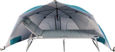 Riesen Strandmuschel Windschutz Sonnenabdeckung Sonnenschirm mit UV Schutz, ca. Ø 290 cm, Blau