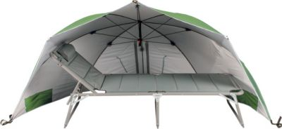 Riesen Strandmuschel Windschutz Sonnenabdeckung Sonnenschirm mit UV Schutz, ca. Ø 290 cm, Grün