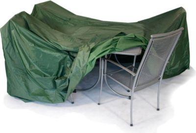 Gardenhome Abdeckhaube für Sitzgruppe Plane in dunkelgrün ca. 320x130 cm