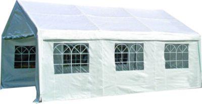 Zelt INCA Pavillon Partyzelt 4x6 Meter Gartenzelt weiß inkl. Seitenteile!