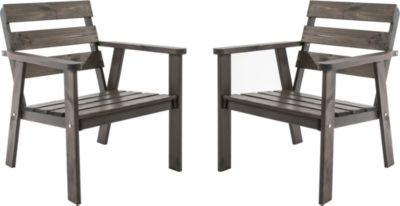 26 2er set massivholz sessel gartenstuhl stuhl hanko for Stuhl nordisches design