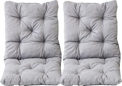 Gardenhome 2er Set Auflage für Sessel HANKO oder EVJE Nordisches Design Sitzkissen