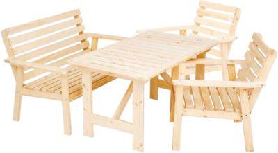 Herbst Angebot 4tlg. Sitzgruppe Elista Essgruppe Loungegruppe, Tisch ca. 130 x 80 cm