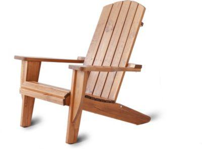 Gardenhome Adirondack Chair Ottawa Liegestuhl Massivholz Braun Deckchair