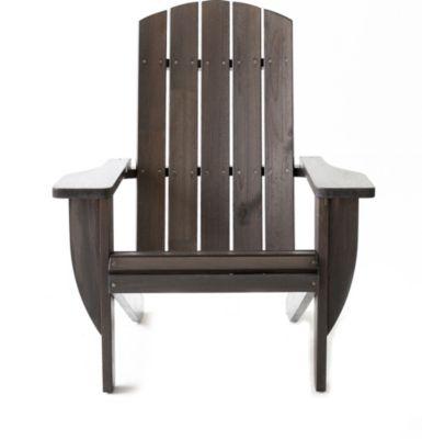Gardenhome Adirondack Chair Ottawa Liegestuhl Massivholz Taupegrau Deckchair