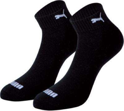 Plus 2 Paar Puma Quarter Socken mit Frottee-Sohle Gr. 35 - 46 Unisex 1/2 cush Füßlinge