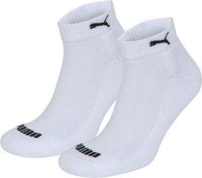 2 Paar Puma Quarter Socken mit Frottee-Sohle Gr. 35 - 46 Unisex 1/2 cush Füßlinge 1506740004