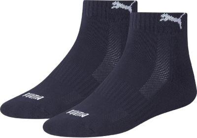 2 Paar Puma Quarter Socken mit Frottee-Sohle Gr. 35 - 46 Unisex 1/2 cush Füßlinge 1506740012