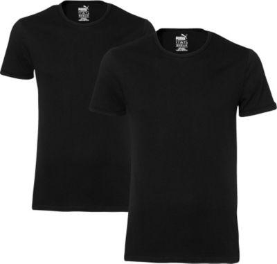 2 er Pack Puma Basic Crew T-Shirt Men Herren Unterhemd Rundhals 1640996002
