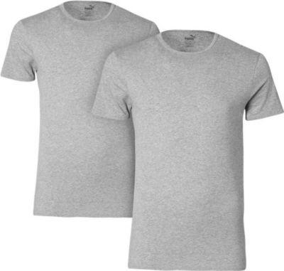2 er Pack Puma Basic Crew T-Shirt Men Herren Unterhemd Rundhals 1640996009