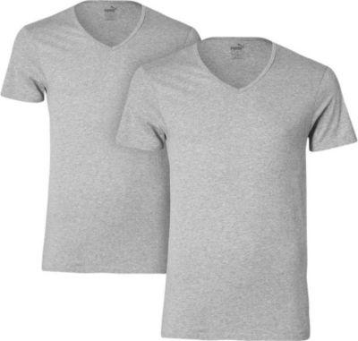 2 er Pack Puma Basic V Neck T-Shirt Men Herren Unterhemd V-Ausschnitt