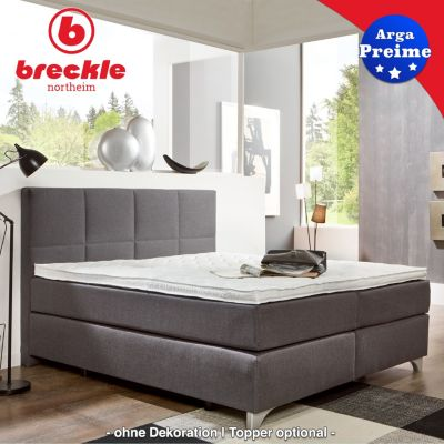 breckle boxspringbett arga best 180x220 cm inkl gel topper plus de. Black Bedroom Furniture Sets. Home Design Ideas