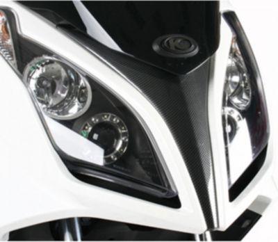 Kymco Verkleidung vorne mitte carbon-optik für Downtown 125i + ABS, Downtown 300i + ABS