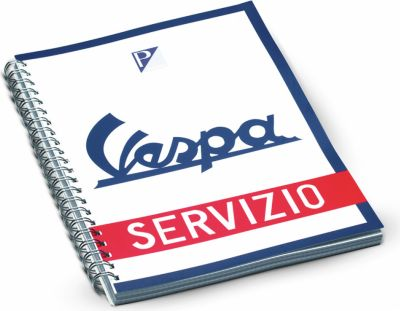 Original Vespa Schreibblock blau weiß Servizio