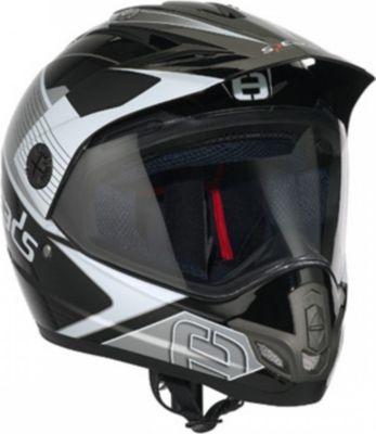 Speeds Crosshelm X-Street Graphic Titanium Helm Cross PA,