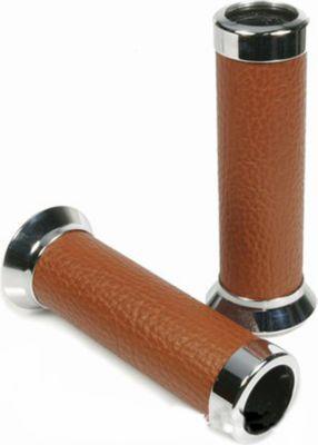 Vespa Aluminiumhandgriffe mit Leder für Roller GTS Braun